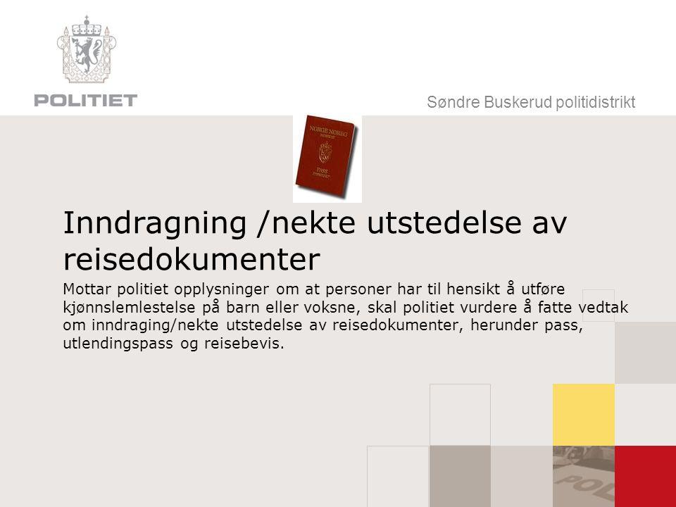 Inndragning /nekte utstedelse av reisedokumenter