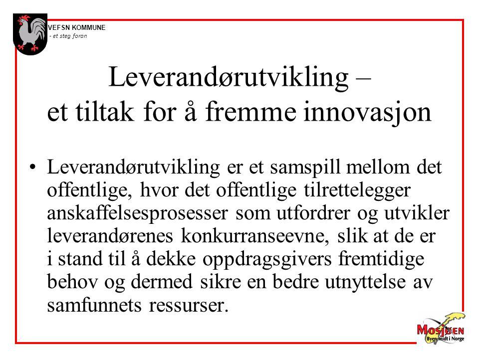 Leverandørutvikling – et tiltak for å fremme innovasjon