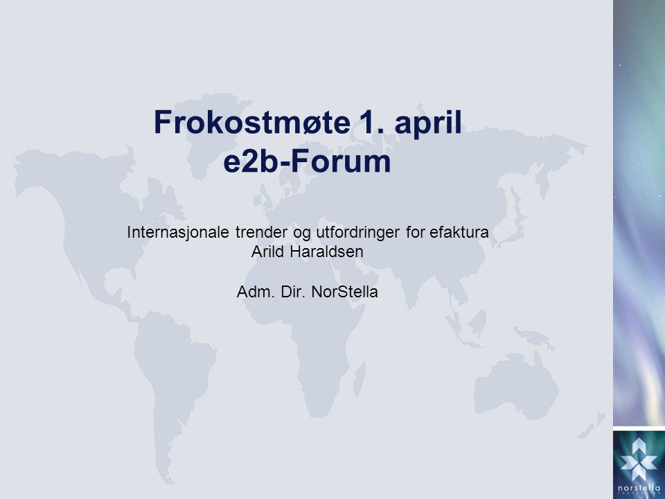 Frokostmøte 1. april e2b-Forum