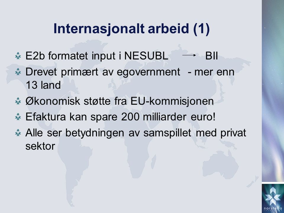 Internasjonalt arbeid (1)