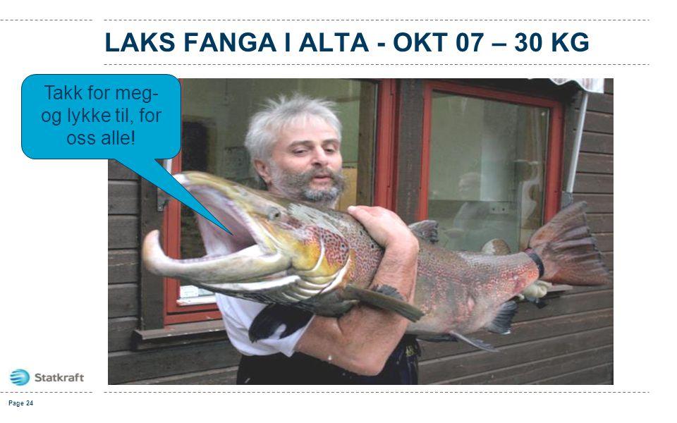 LAKS FANGA I ALTA - OKt 07 – 30 kg