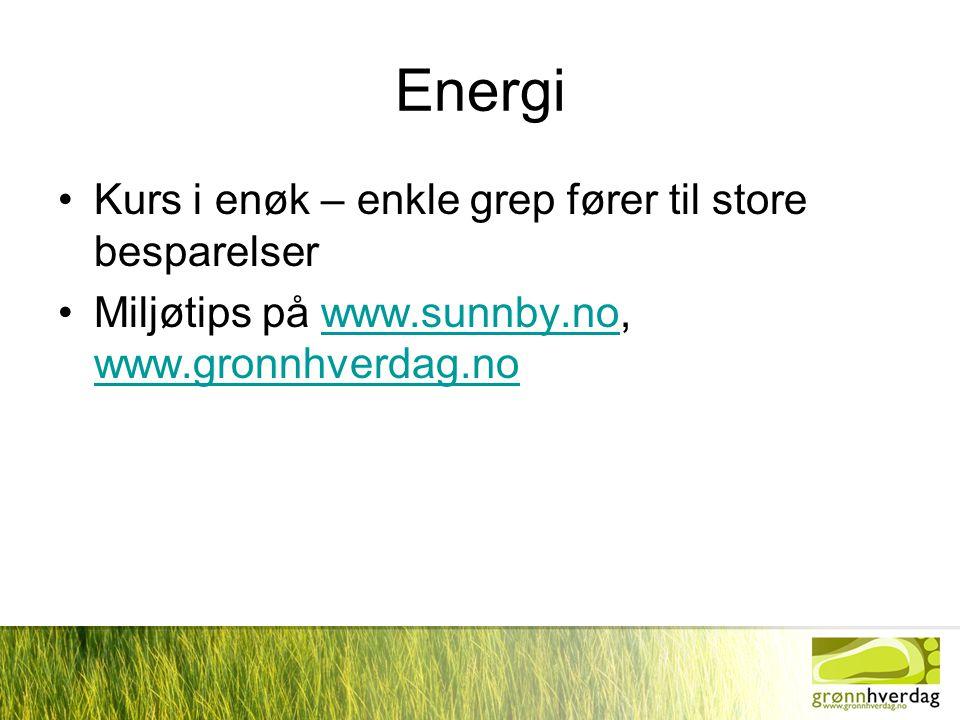 Energi Kurs i enøk – enkle grep fører til store besparelser