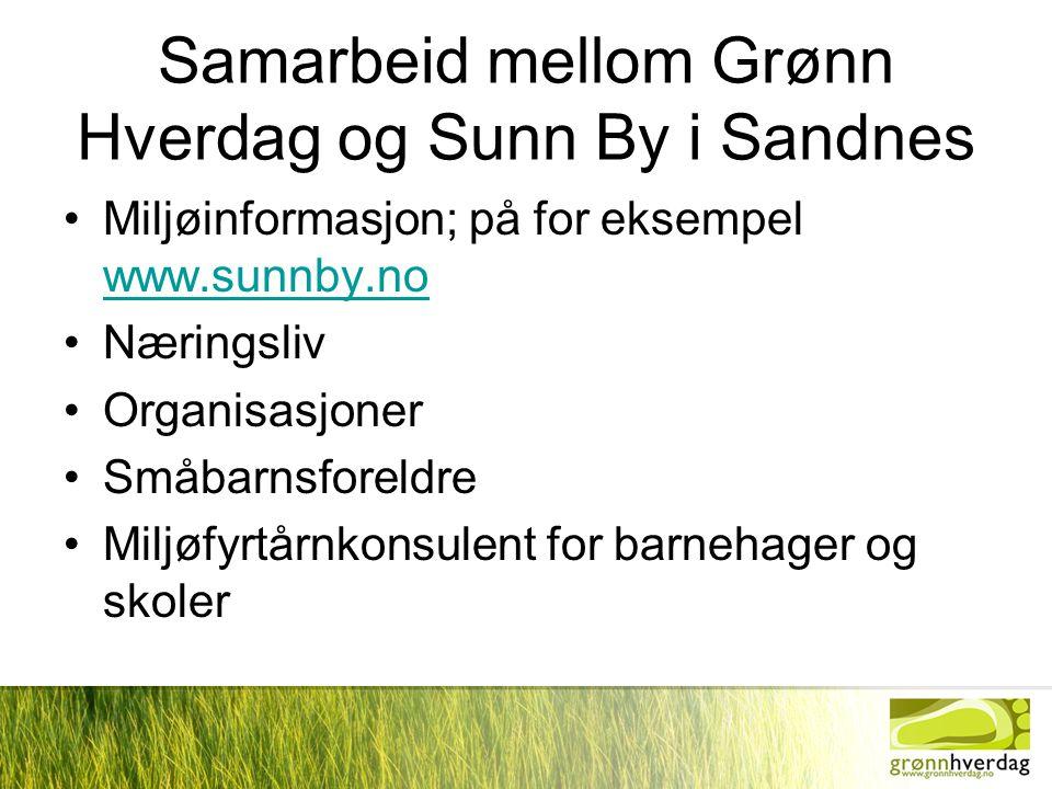 Samarbeid mellom Grønn Hverdag og Sunn By i Sandnes