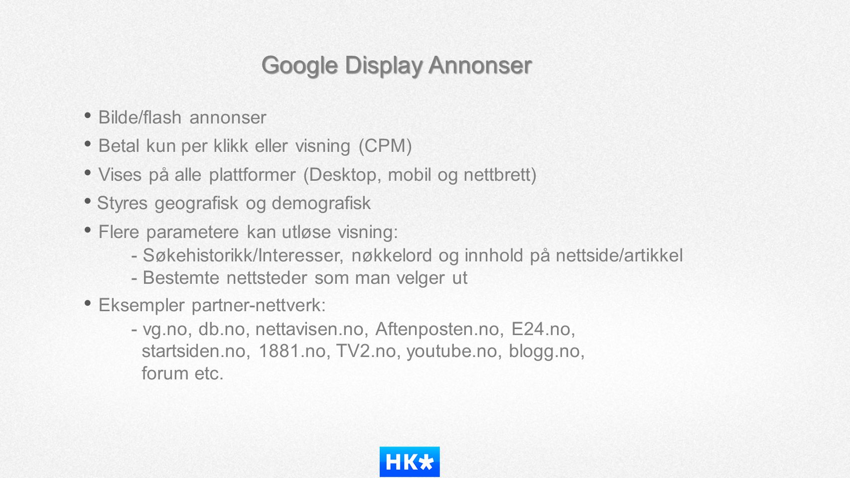Google Display Annonser