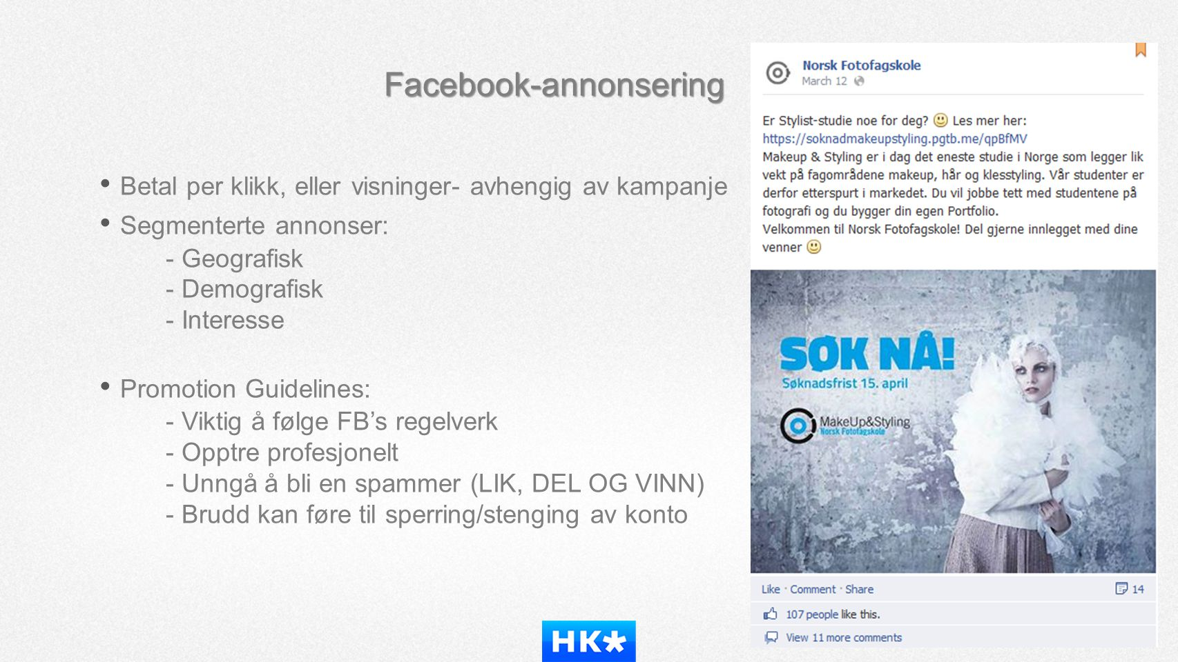 Facebook-annonsering