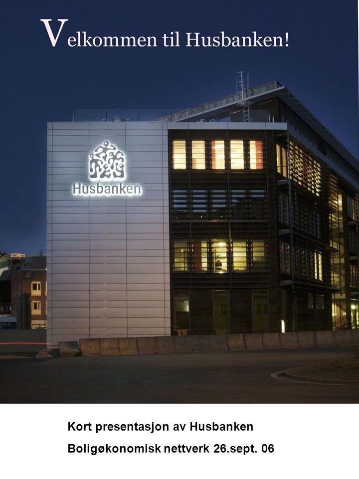 Kort presentasjon av Husbanken