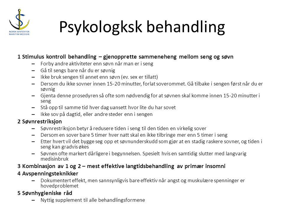 Psykologksk behandling