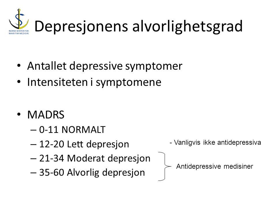 Depresjonens alvorlighetsgrad
