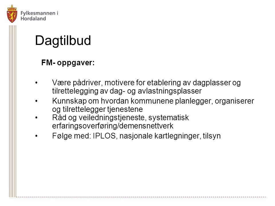 Dagtilbud FM- oppgaver: