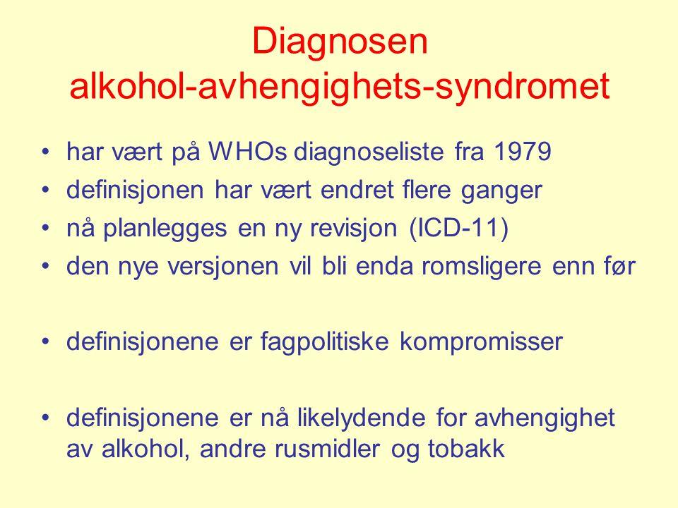 Diagnosen alkohol-avhengighets-syndromet