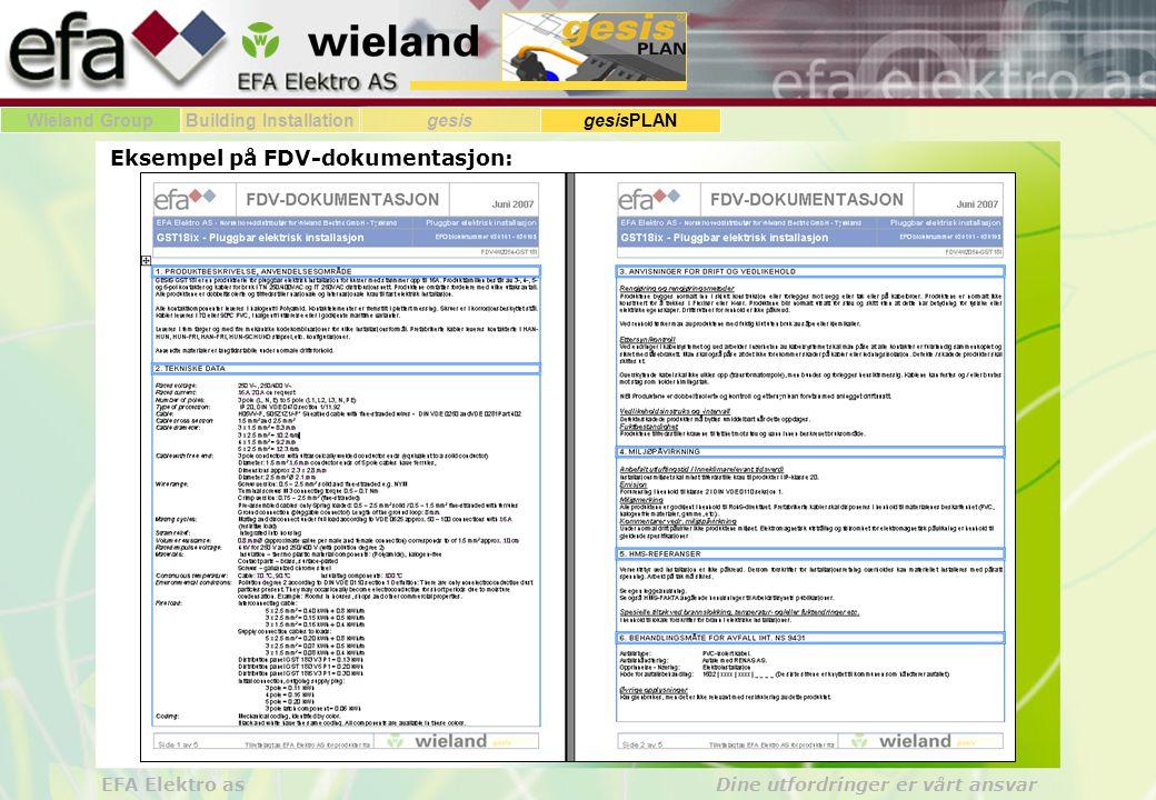 Eksempel på FDV-dokumentasjon: