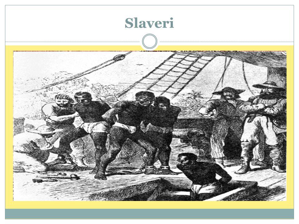 Slaveri Mye av fremgangen til britene kan knyttes til slaveri og slavehandel.