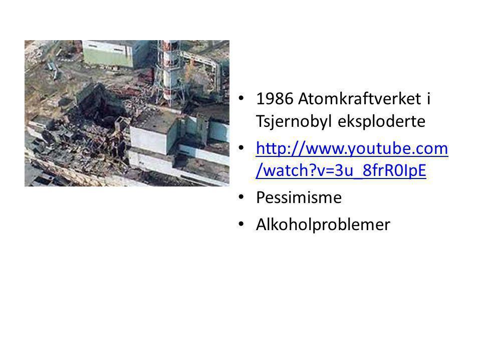 1986 Atomkraftverket i Tsjernobyl eksploderte