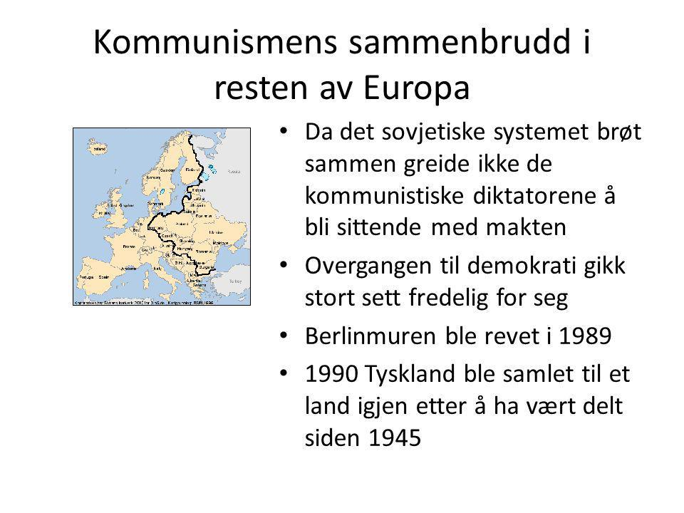 Kommunismens sammenbrudd i resten av Europa