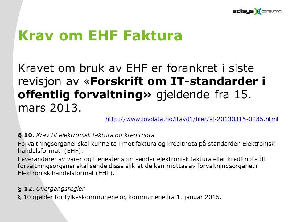 Krav om EHF Faktura