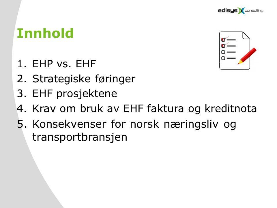 Innhold Konsekvenser for norsk næringsliv og transportbransjen
