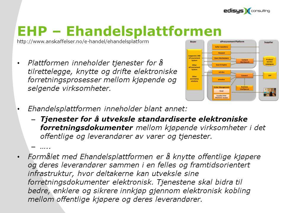 EHP – Ehandelsplattformen http://www. anskaffelser