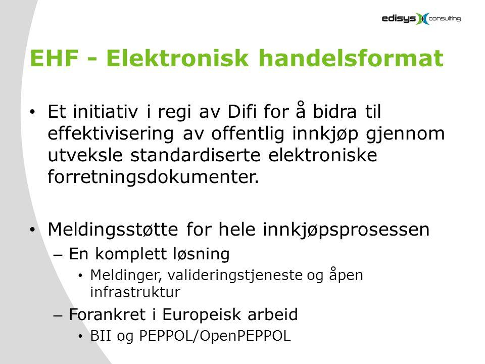 EHF - Elektronisk handelsformat