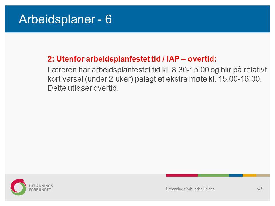 Arbeidsplaner - 6