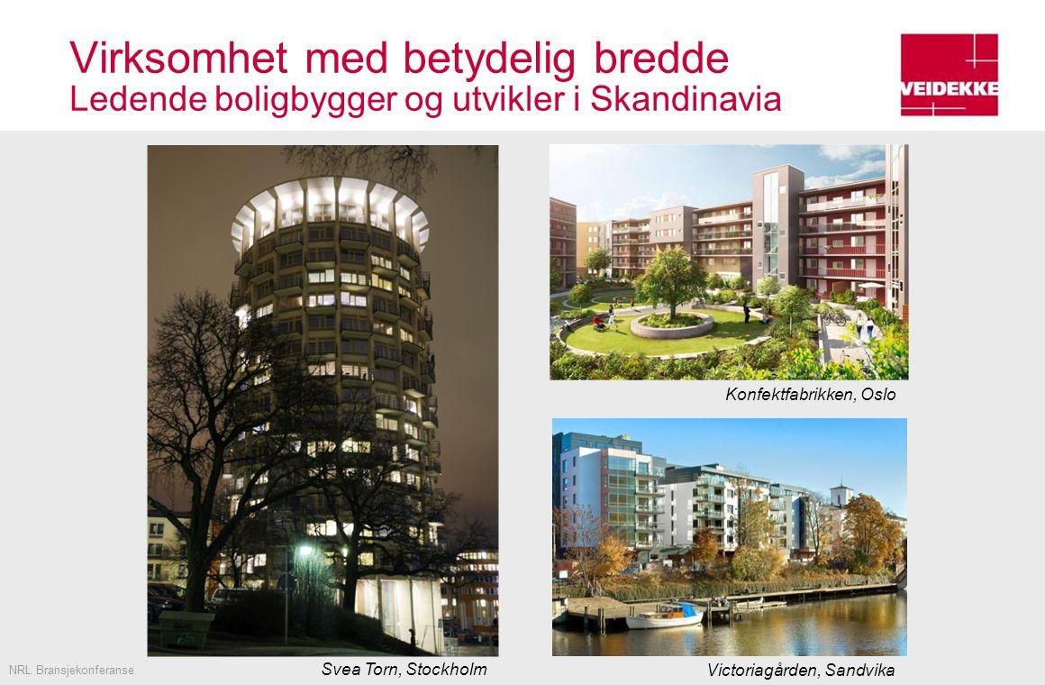 Virksomhet med betydelig bredde Ledende boligbygger og utvikler i Skandinavia