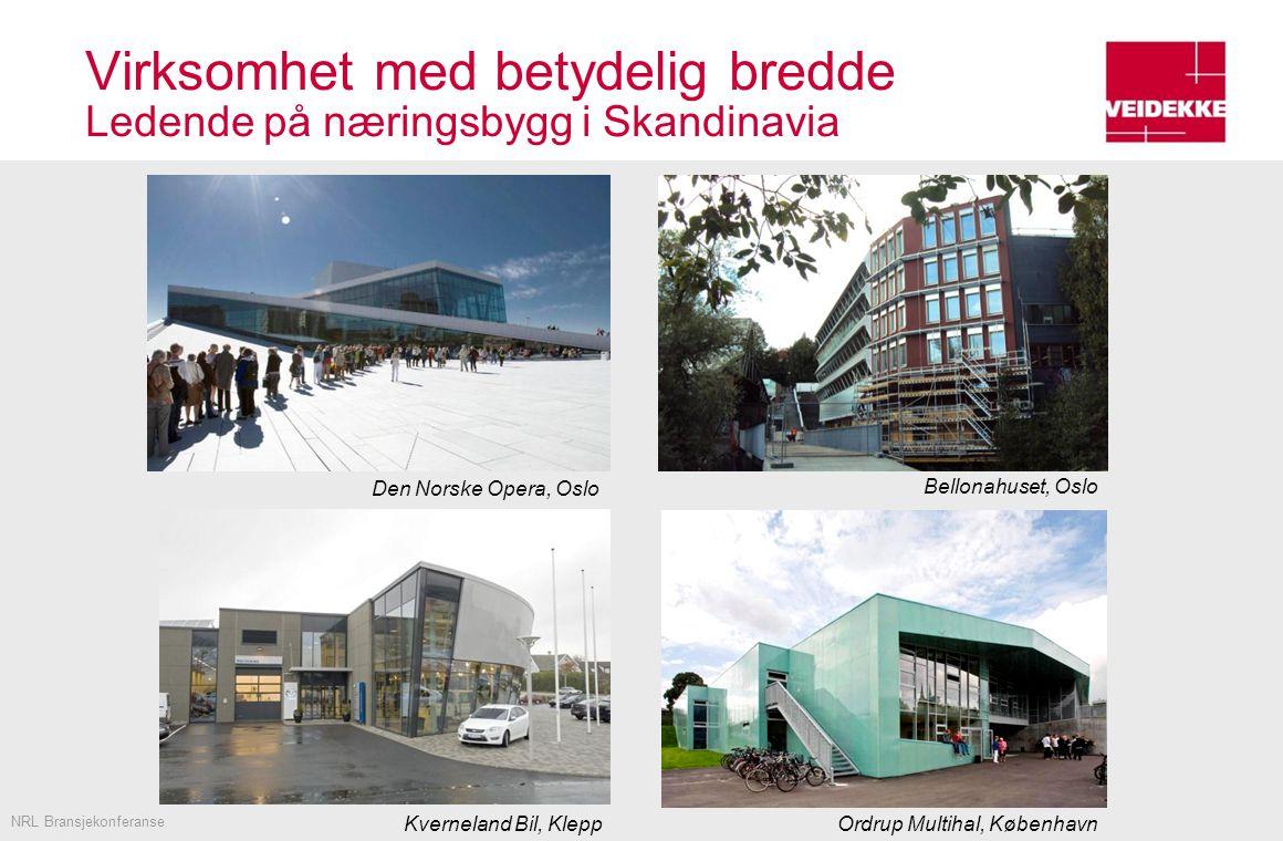 Virksomhet med betydelig bredde Ledende på næringsbygg i Skandinavia