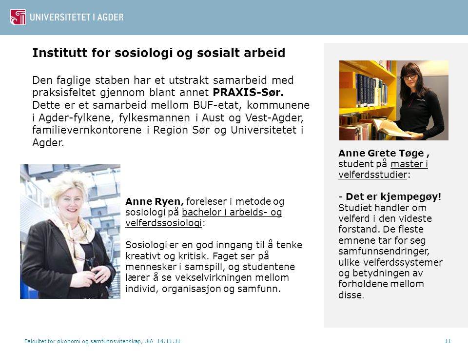 Institutt for sosiologi og sosialt arbeid