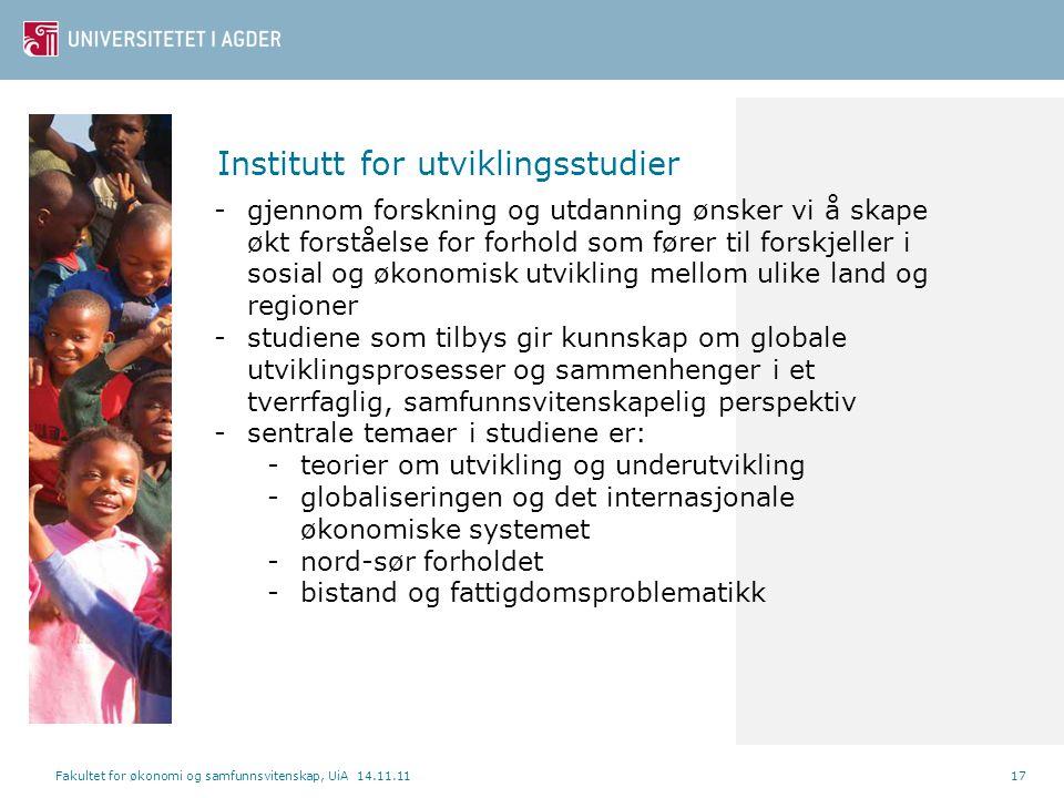 Institutt for utviklingsstudier