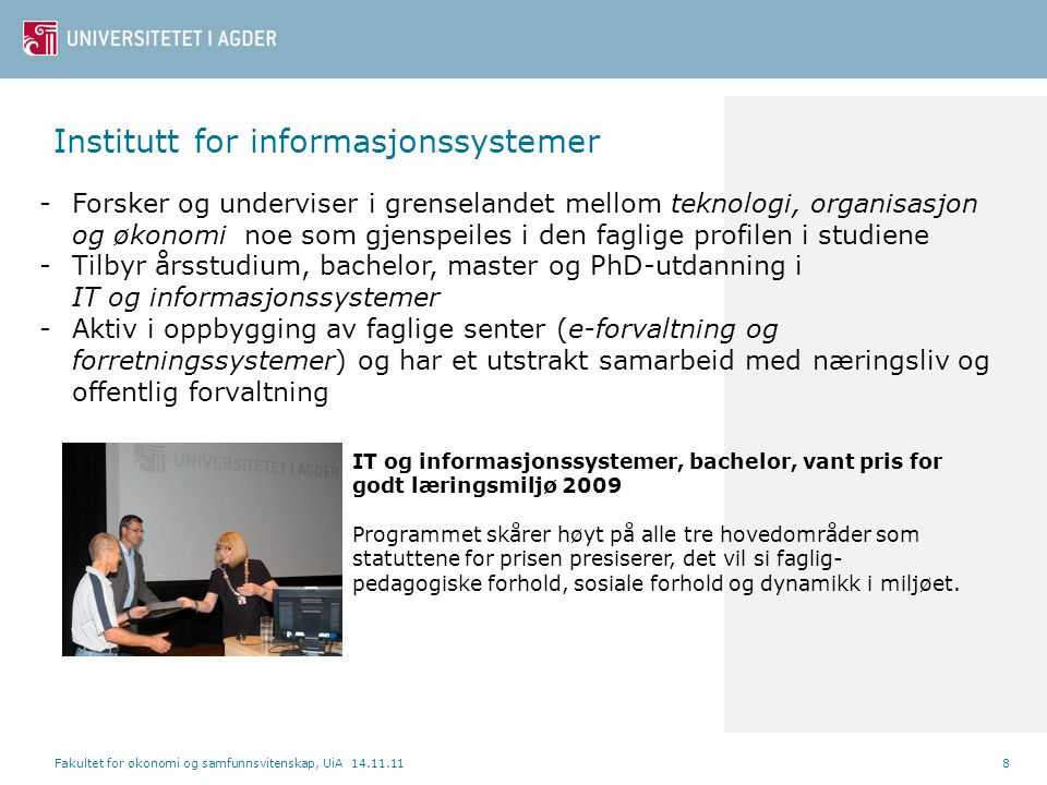 Institutt for informasjonssystemer