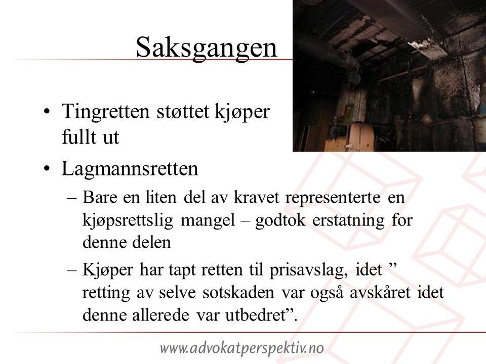 Saksgangen Tingretten støttet kjøper fullt ut Lagmannsretten