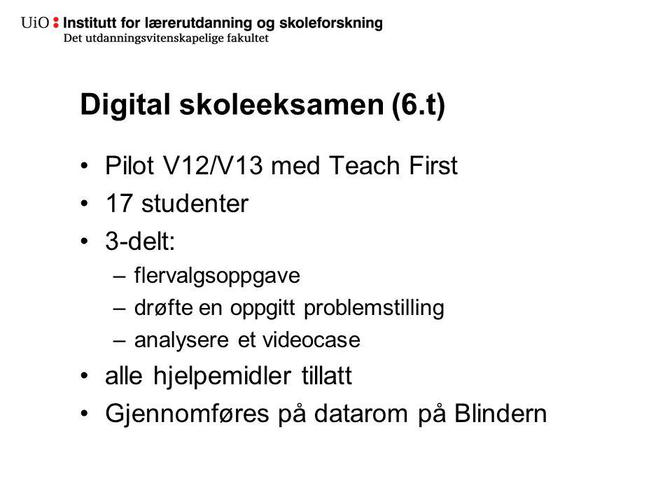 Digital skoleeksamen (6.t)