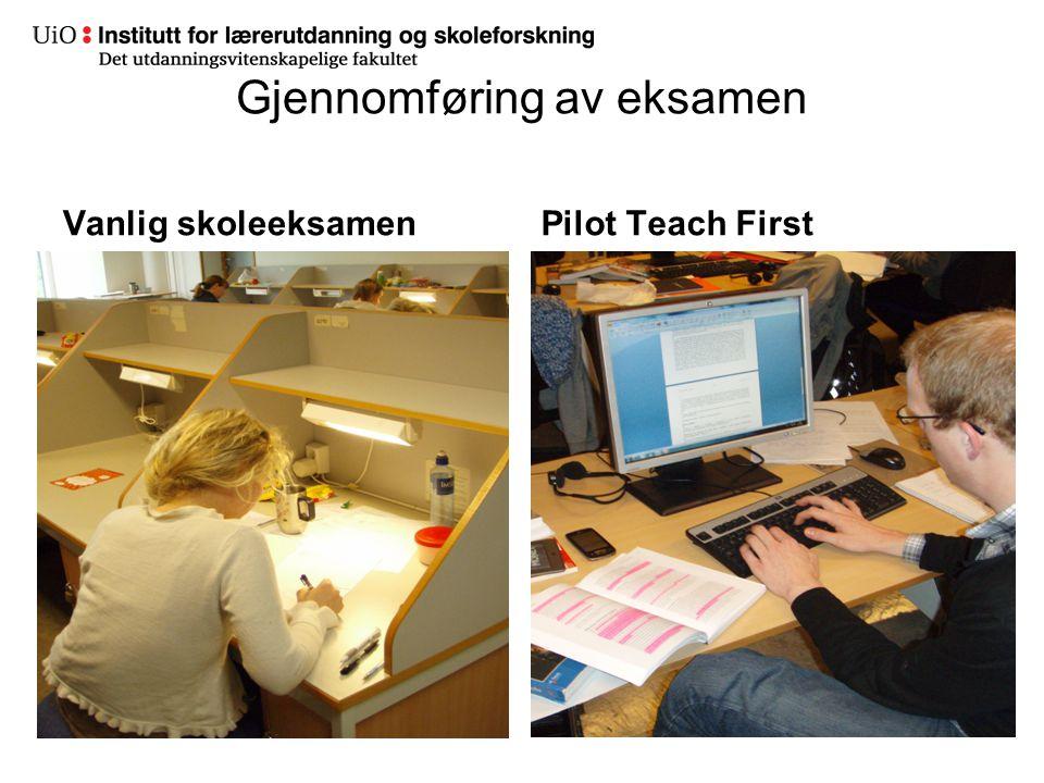 Gjennomføring av eksamen