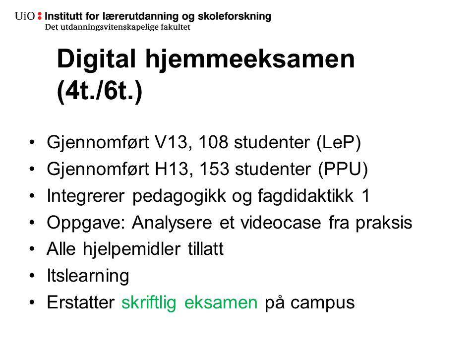 Digital hjemmeeksamen (4t./6t.)