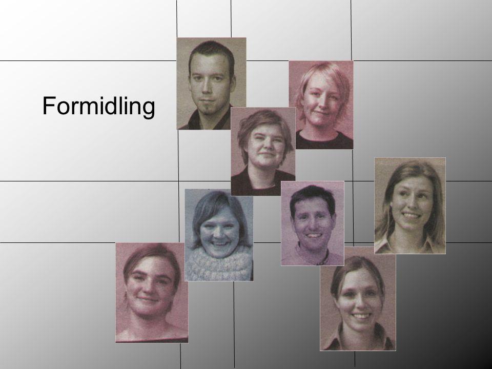 Formidling Budskap – legge grunnlag for holdningsendringer (kvalitative mål) Formen på budskapet. Hvordan det formidles.