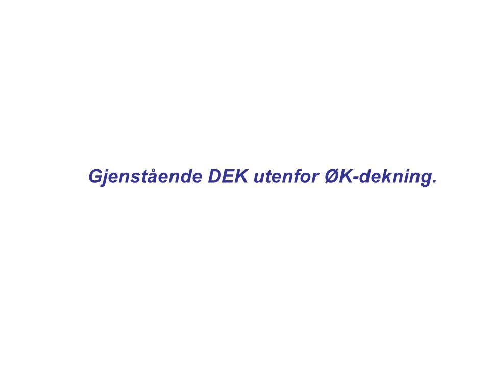 Gjenstående DEK utenfor ØK-dekning.