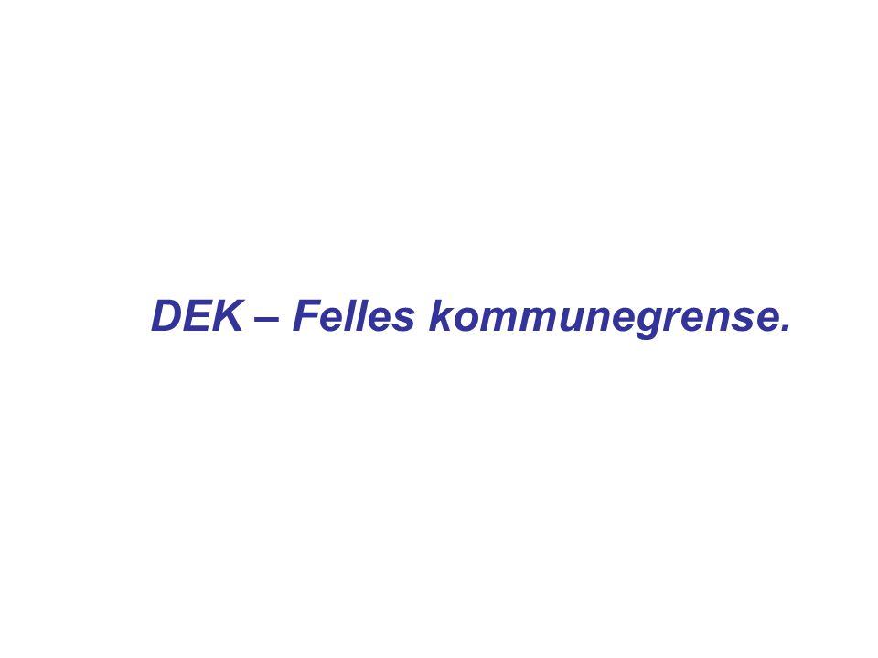 DEK – Felles kommunegrense.