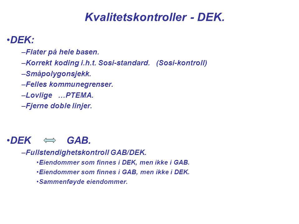 Kvalitetskontroller - DEK.