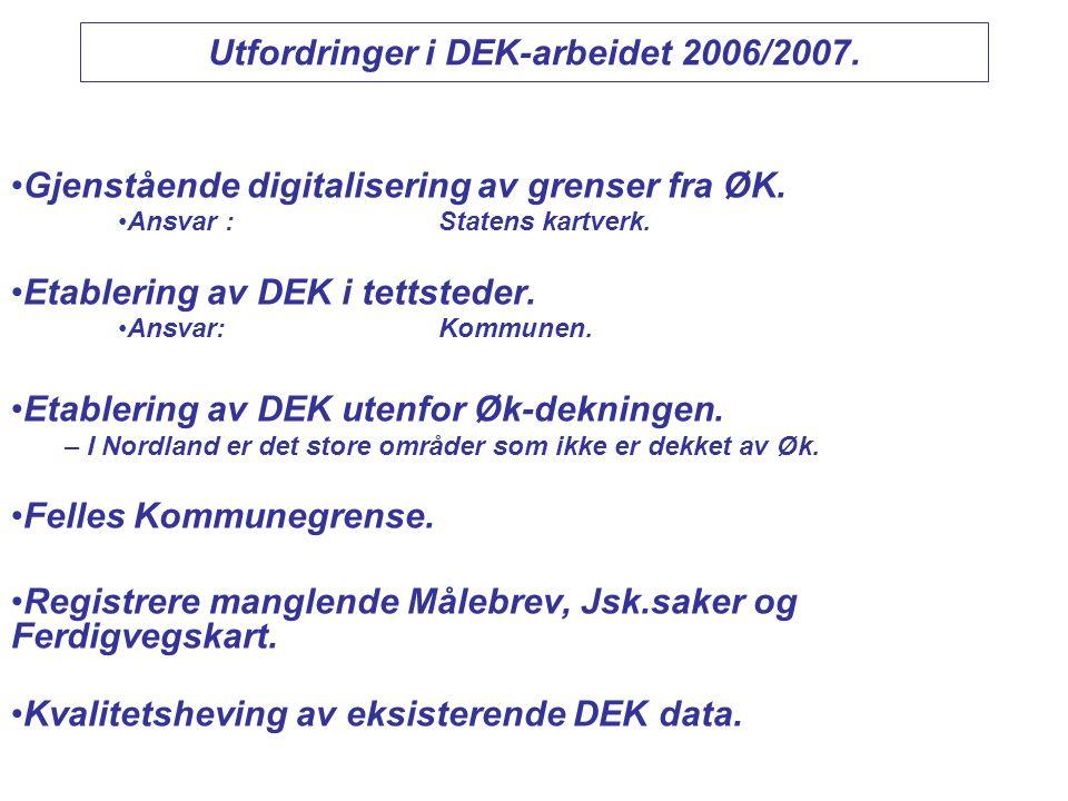 Utfordringer i DEK-arbeidet 2006/2007.