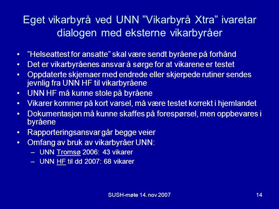 Eget vikarbyrå ved UNN Vikarbyrå Xtra ivaretar dialogen med eksterne vikarbyråer
