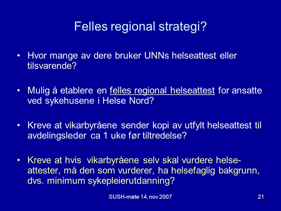 Felles regional strategi