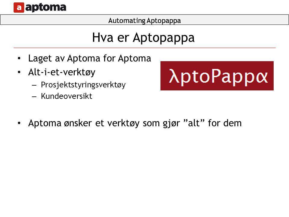 Hva er Aptopappa Laget av Aptoma for Aptoma Alt-i-et-verktøy