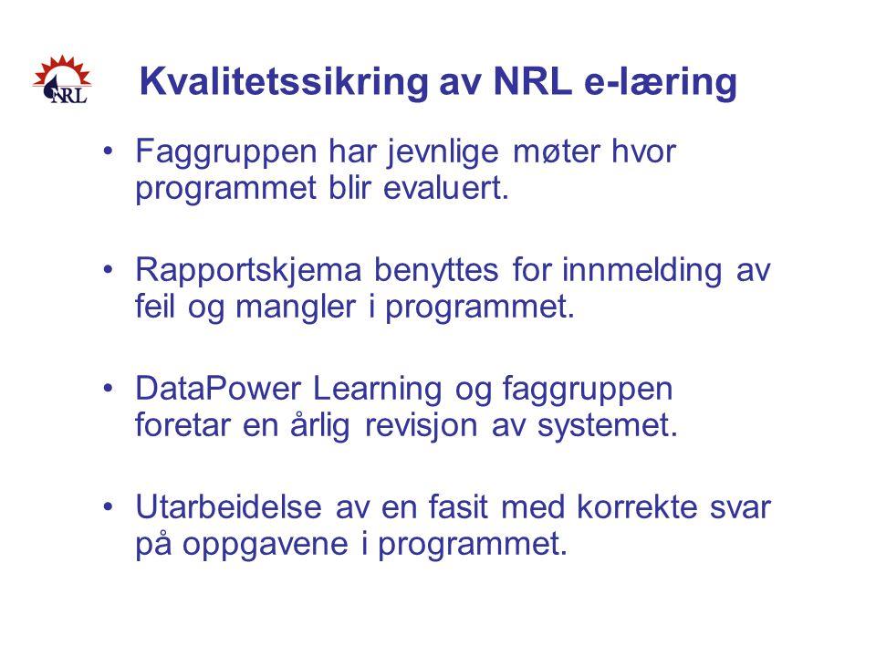 Kvalitetssikring av NRL e-læring