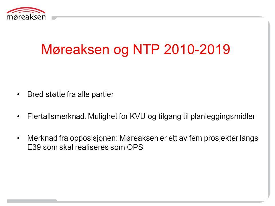 Møreaksen og NTP 2010-2019 Bred støtte fra alle partier