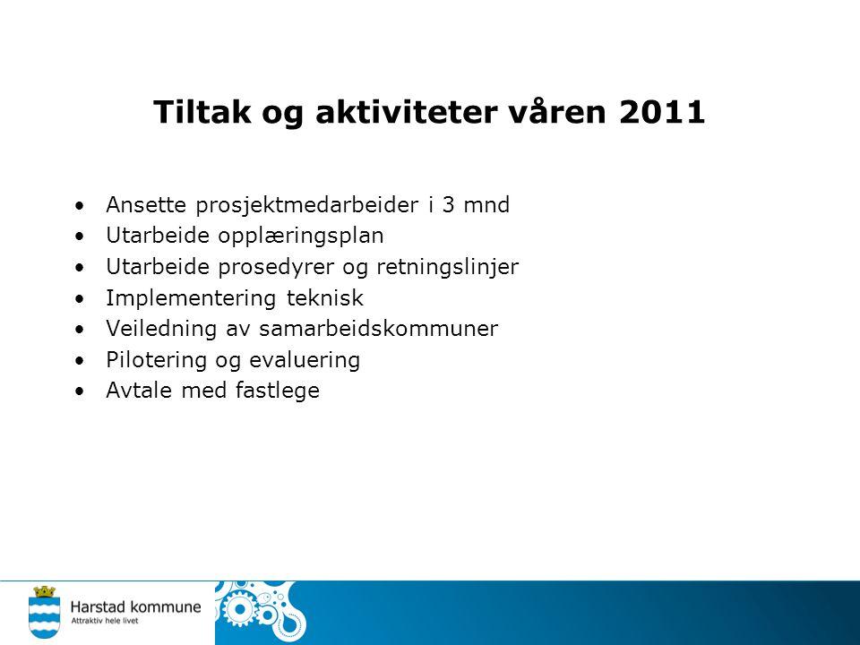Tiltak og aktiviteter våren 2011