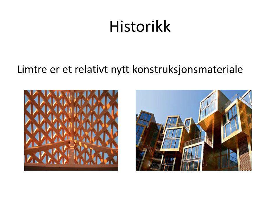 Historikk Limtre er et relativt nytt konstruksjonsmateriale Historikk