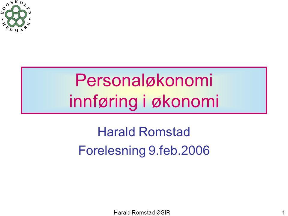 Personaløkonomi innføring i økonomi