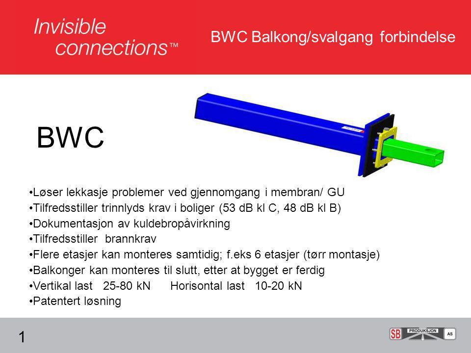 BWC BWC Balkong/svalgang forbindelse 1