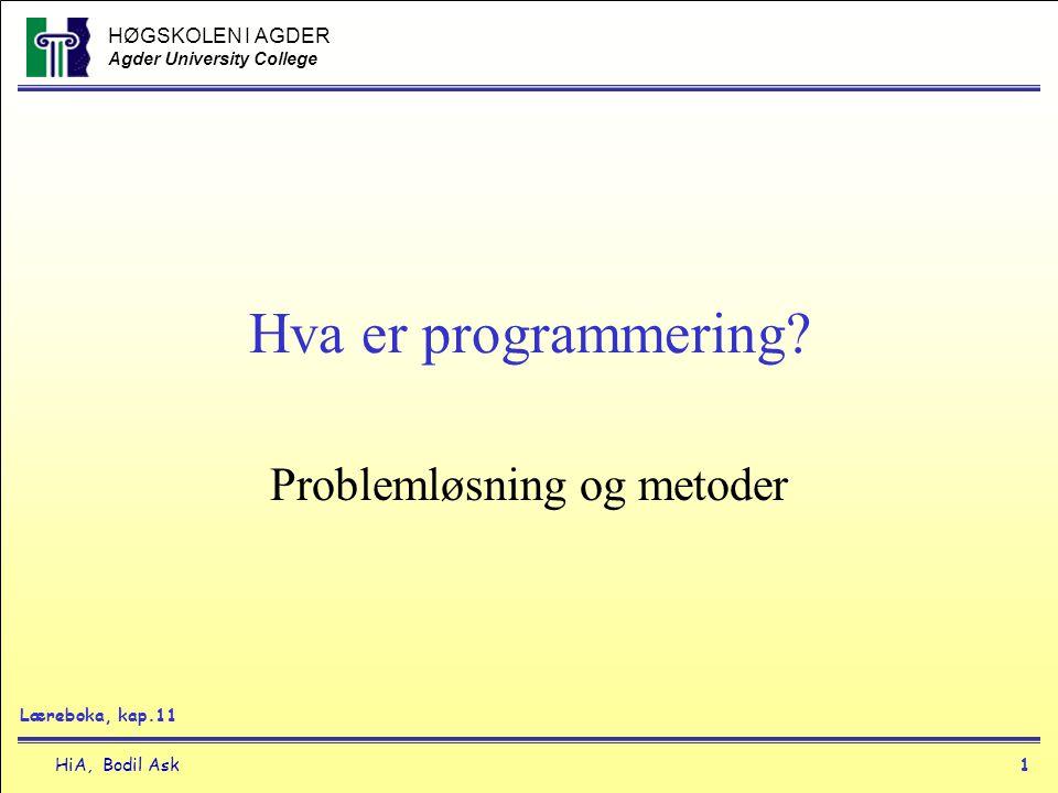 Problemløsning og metoder