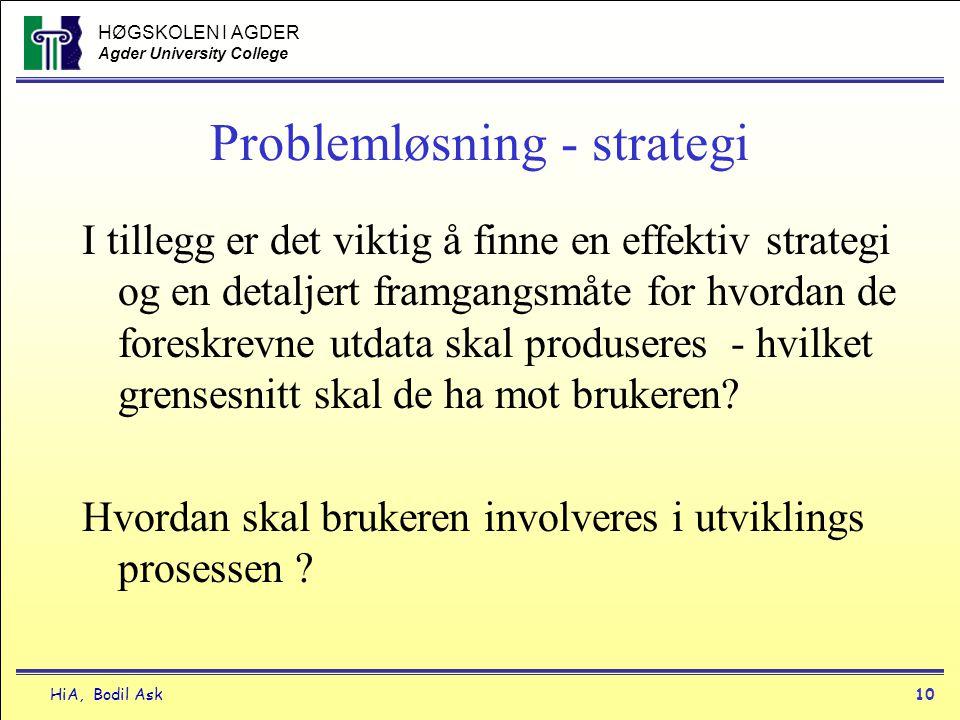 Problemløsning - strategi
