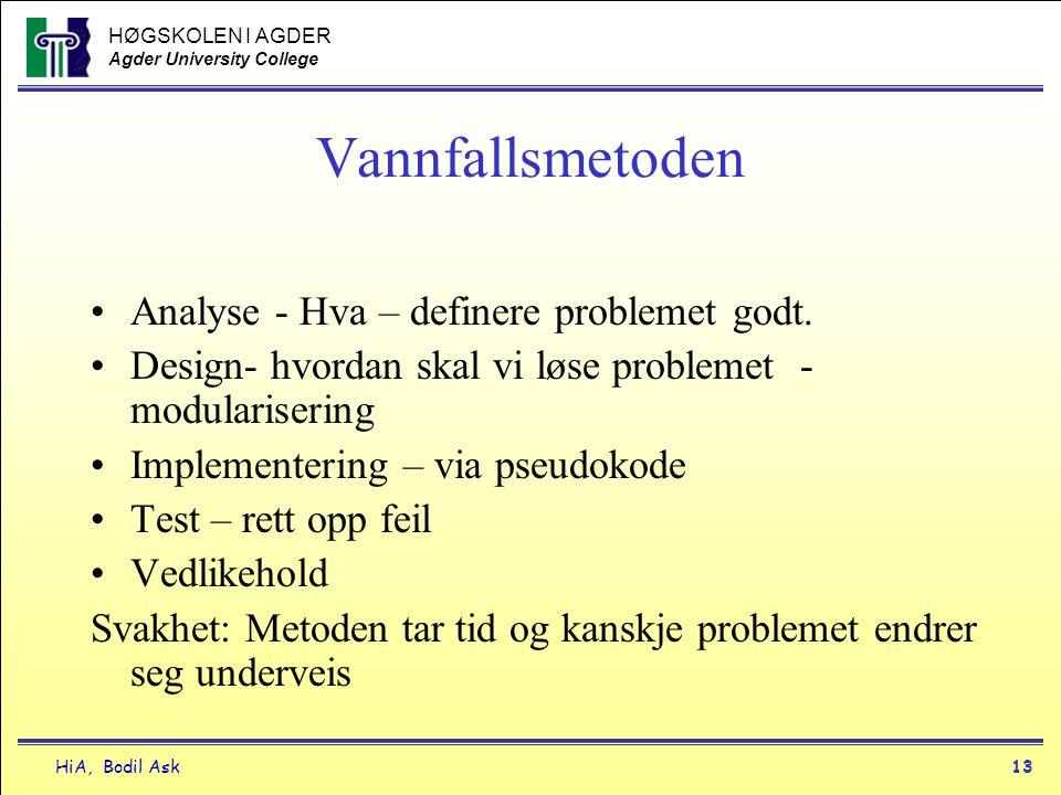 Vannfallsmetoden Analyse - Hva – definere problemet godt.