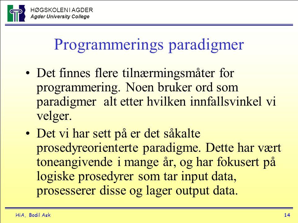 Programmerings paradigmer